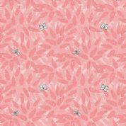 Lewis & Irene Grandma's Garden - 5289 - Buddleia, Floral in Coral  - A196.1 - Cotton Fabric